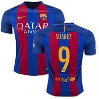 Футбольная форма 2016-2017 Барселона (Barcelona) Suarez домашняя