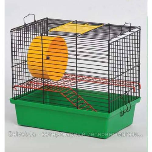 Клетка Хомяк -2  для грызунов, цельная 330х230х290 мм, краска