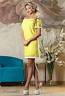 Батистовое женское желтое платье 2152 Seventeen 42-52 размеры