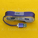 USB - Micro USB кабель в тканевой оболочке 1.5 м, Шнур micro usb 2.0 Samsung (цвет салатовый), фото 2