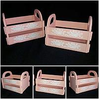 Ящик для декора в стиле Прованс,  20х15х16 см., 165/135 (цена за 1 шт. + 30 гр.)