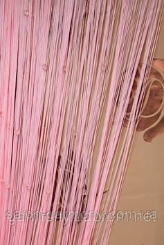 Серпанок штори нитки із стеклярусом