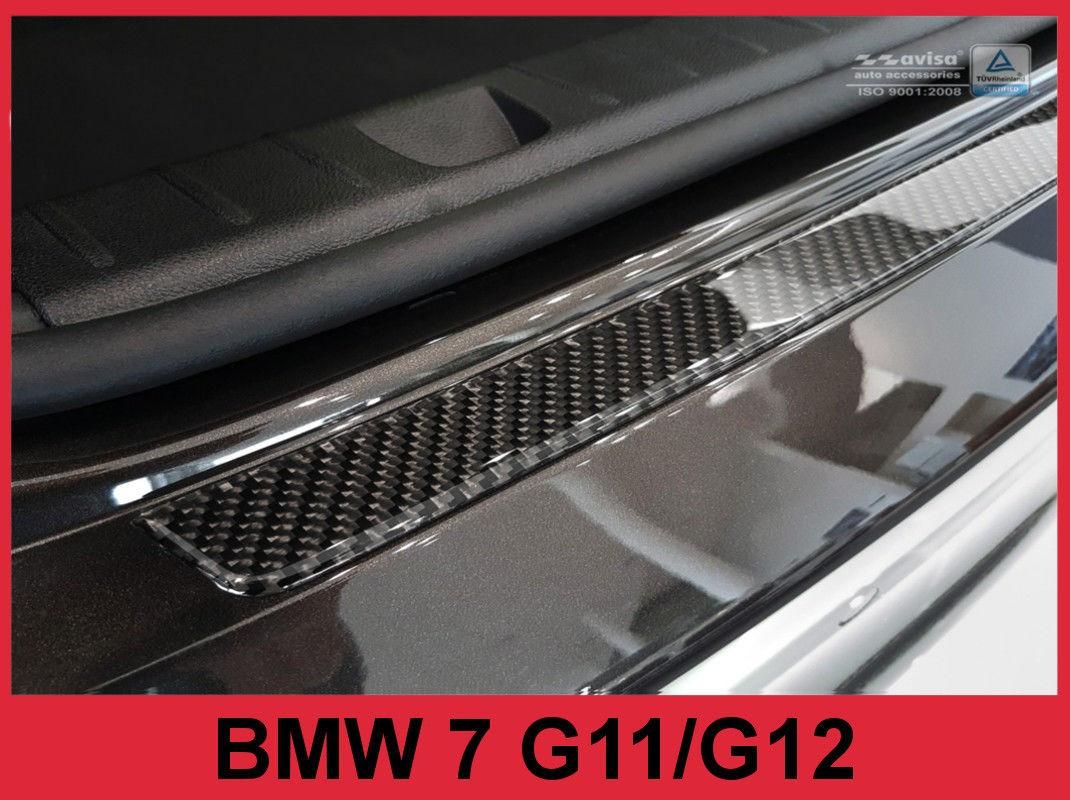 Накладка на задний бампер BMW 7 G11 / G12 Carbon