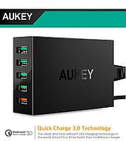 Aukey PA-Т15 - быстрая 5-ти портовая турбо зарядка с поддержкой технологии Quick Charge 3.0