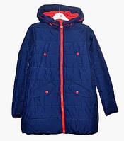 Демисезонна  куртка-парка   для дівчинки 6 -14 років  Black&Red синя