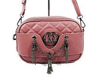 Клатч-сумочка женская кожзам пудра Chanel 835-1-4