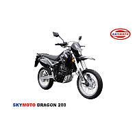 DRAGON 200  (SUPERMOTO) (регулируемая  жесткость передней вилки, новый руль, задний багажник, обновленный пла