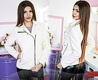 Элегантная кашемировая куртка-косуха на молнии