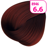 Стойкая СС крем-краска для волос KRASA с маслом амлы и аргинином тон 6.6 темный блондин красный интенсивный