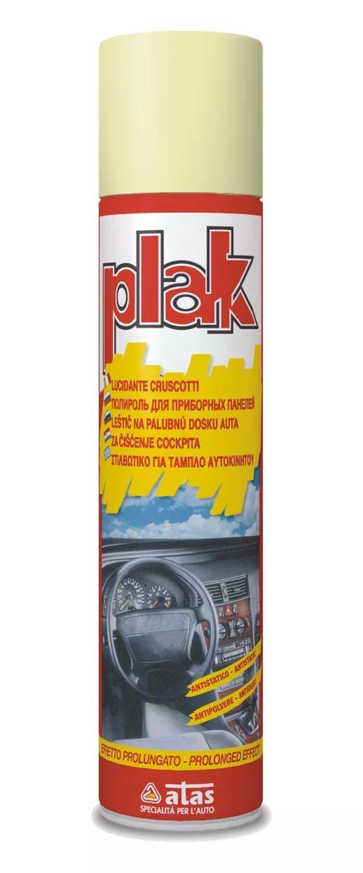 Полироль для панели приборов (пластика) Atas PLAK 750мл (аэрозоль с запахом)