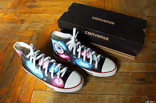 Кеды Converse Replica высокие Lisa Deco Космос, фото 3