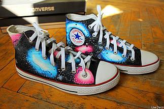 Кеды Converse высокие Lisa Deco Космос, фото 2