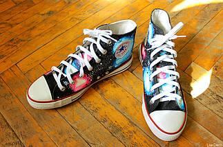 Кеды Converse высокие Lisa Deco Космос, фото 3