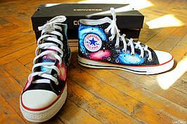 Кеды Converse Replica высокие Lisa Deco Космос