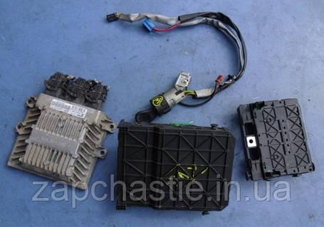Блок управления двигателем (ЭБУ) комплект Siemens Пежо Партнёр 2.0HDi SID 801A, фото 2