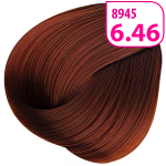 Стойкая СС крем-краска для волос KRASA с маслом амлы и аргинином тон 6.46 Темный блондин медно-красный