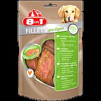Куриное филе 8 in 1 Fillets Pro Digest для собак, улучшение пищеварения, 80 г