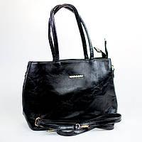 Стильная женская сумка короткая и длинная ручка