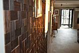 Мозаика деревянная из дуба 3D Tessera  * Дуб термо брашированный, фото 4