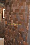 Мозаика деревянная из дуба 3D Tessera  * Дуб термо брашированный, фото 5