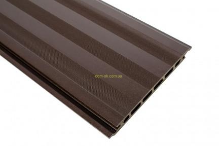 Террасная доска Хольцдорф CLASSIC (Класік) 162х24х2400 мм орех, фото 1