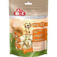 Кости 8 in 1 Delights Value Bag XS для собак жевательные, с мясом, 21 шт