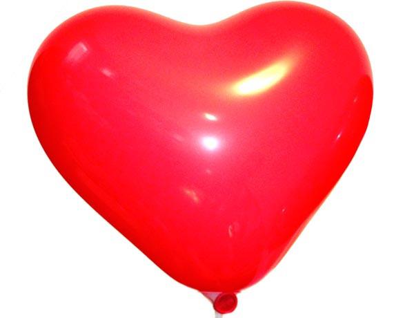 Повітряні кулі латексні Gemar Італія, колір: червоний кристал, форма: Фігурні, Серце, Діаметр 17 дюймів/