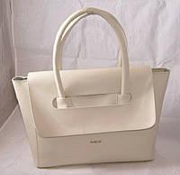 Белая женская сумка B.Elit