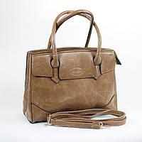 Коричневая большая стильная женская сумка