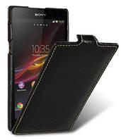 Кожаный чехол Melkco для Sony Xperia Z C6602 черный, фото 1