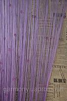 Кисея шторы нити однотонные со стеклярусом