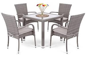 Комплект мебели из техноротанга Lola (серый)