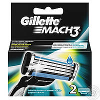 Лезвия Gillette Mach3 Turbo 2 шт. в упаковке