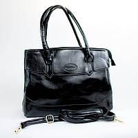 Черная модная женская сумка из кожзаменителя