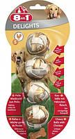 Шарики 8 in 1 Delights Balls S для собак жевательные, с куриным мясом, 4 шт