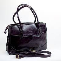 Бордовая модная женская сумка из кожзаменителя