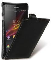 Кожаный чехол Melkco для Sony Xperia L C2105  черный, фото 1
