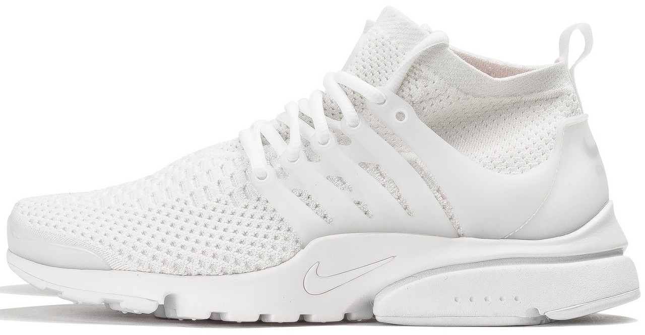 Мужские кроссовки Nike Air Presto Ultra Flyknit All White 835570-100, Найк Аир Престо