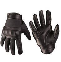 Тактические перчатки Leder/Aramid Kevlar, Black. Mil-tec, Германия.