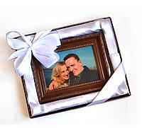Подарок любимой на 14 февраля. Картина из шоколада с Вашим фото, фото 1