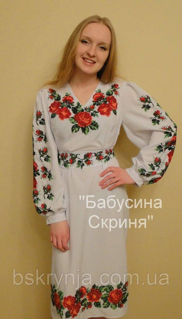Заготовка жіночої сукні для вишивки нитками/бісером БС-8с