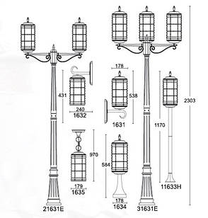 Садово-парковый светильник LUSTERLIGHT Lettera 1635, фото 2