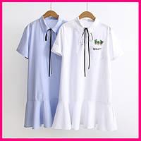 Спортивное платье белое и синее, фото 1