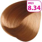 Стойкая СС крем-краска для волос KRASA с маслом амлы и аргинином тон 8.34 Светлый блондин золотисто-медный