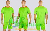 Футбольная форма для команд подростковая Perfect CO-2016B-LG (PL,рост 120-150см,салатовый-оранжевый)