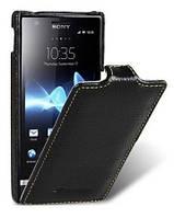 Кожаный чехол Melkco для Sony Xperia U ST25i черный, фото 1