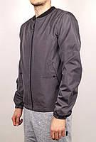 Куртка, ветровка, бомбер, демисезонная, мужская, весенняя, осенняя  т-серый