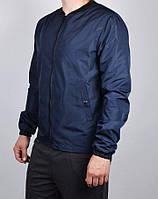 Куртка, ветровка, бомбер, демисезонная, мужская, весенняя, осенняя  т-синий
