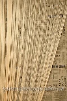 Серпанок однотонні штори нитки із стеклярусом
