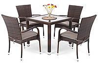 Комплект мебели из техноротанга Lola (коричневый)